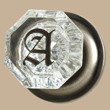 Hartford Crystal Monogrammed Doorknob