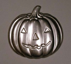 Stamped Metal Pumpkin Image