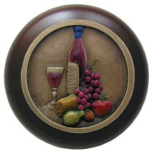 Wine Cellar Walnut/Pewter Cabinet Knob