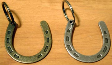 Western Horseshoe Key Ring