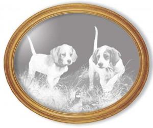 Beginner's Luck Etched Dog Mirror