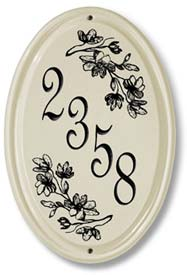 Oval Ceramic Address Plaque