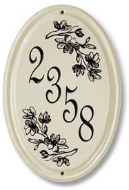Oval Ceramic Address Plaque